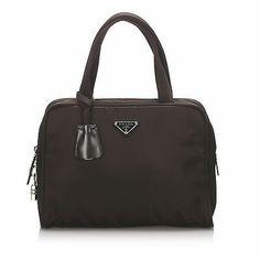 Ad(eBay Url) Pre-Loved Prada Brown Dark Nylon Fabric Handbag Italy #pradahandbagsblack #pradahandbags2018 #pradahandbagsblue #pradahandbagsoutfit #pradahandbagstote Fabric Handbags, Prada Handbags, Out Of Shape, Brown Beige, Black Nylons, Shoulder Bag, Shoulder Straps, Dust Bag, Brown Leather