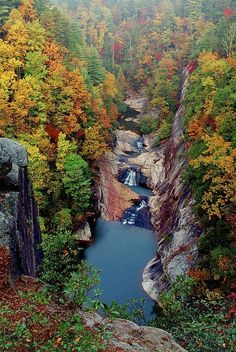 Tallulah Gorge in Northeast Georgia. Hiking, kayaking, fishing, and great exhibits of local history and wildlife at the Jane Hurt Yarn Center.