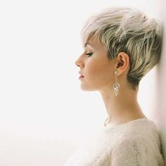 10 Latest Pixie Haircut Designs for Women – Super-stylish Makeovers  Take a look at these trendy makeovers, showcasing the latest pixie haircut designs for women of all ages! I challenge anyone to browse through . Short Pixie Haircuts, Short Hairstyles For Women, Undercut Hairstyles, Short Women's Hairstyles, Pixie Haircut Round Face, Blonde Pixie Hairstyles, Short Hair Cuts For Women Edgy, Messy Pixie Haircut, Wedding Hairstyles