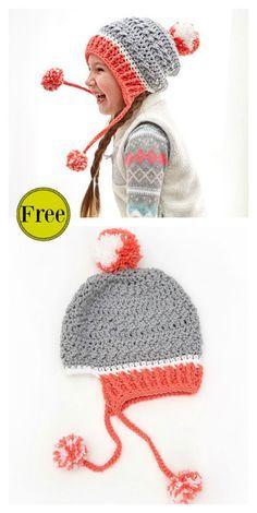 590e577225 Little Miss Pompom Hat Free Crochet Pattern  freecrochetpatterns   crochethats Crochet Hat Pattern Kids
