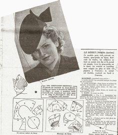 Des modes & ...: Patron : chapeau de femme, Le Petit Echo de la Mode, 1941