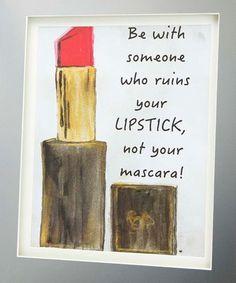 Loving this Mirror Matte 'Lipstick' Shadowbox on #zulily! #zulilyfinds