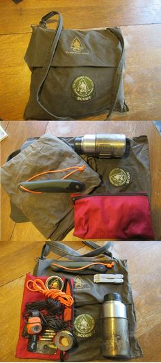 A Damned fine Kit. Combined with a belt knife and ferro rod on your person, and a jackknife in your pocket. this kit can cover almost everything. If you look closely you will see a makeshift audible distress component, first aid kit,shelter,water,cover,cutting tools,long range signaling,bait for trapping and fishing etc. So much can be done with this kit.