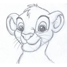 disney sketch simba, the lion king My drawings ❤ liked on Polyvore featuring disney, fillers, doodles, drawings, art and scribble