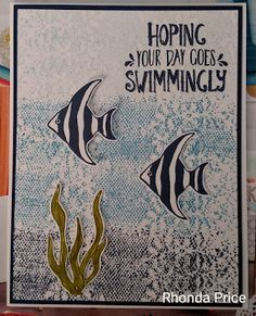 Paper Wishes and Stampin' Dreams: Swimming with the fishes; Stampin UP; Seaside Shore stamp set