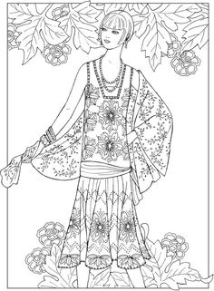 creative haven jazz age fashions coloring book - Fashion Coloring Pages 2