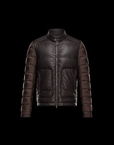 02637bc0012 JEANDAT jacket in dark brown nappa with lightweight nylon sleeves Duck Down  Jacket, Kids Coats