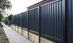 Cost of Colorbond Fencing Per Square Metre - Metal Fencing Costs Backyard Retaining Walls, Gabion Fence, Concrete Fence, Backyard Fences, Fenced In Yard, Patio, Corrugated Metal Fence, Metal Fence Panels, Wooden Fence