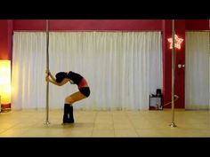 Pole Art Routine 01 - Level 1 (Christina Aguilera - Walk Away) - YouTube