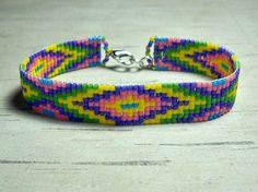 Rainbow Color Loom Bracelet Bead Loom by BeadWorkBySmileyKit, $18.00
