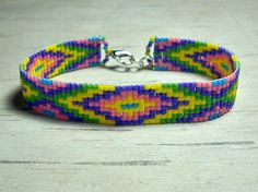 Rainbow Color Loom Bracelet Bead Loom by BeadWorkBySmileyKit, $18.00