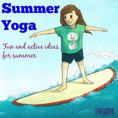 Yoga for kids is a great way to celebrate the various seasons throughout the year. Seasonal yoga gets children learning, moving, and having fun! Kids Yoga Poses, Yoga For Kids, Yoga Flow, Yoga Meditation, Yoga Themes, Childrens Yoga, Yoga Books, Yoga Lessons, Beach Yoga