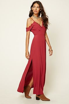 Lace-Trimmed Maxi Dress
