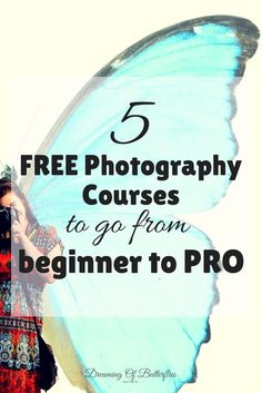 Top 5 Free Essential Photography Courses that will make you Shoot like a Genius Every young photographer needs to start somewhere. Here are our top 5 FREE Essential Photography Courses that will make you Shoot like a Genius! Free Photography Courses, Dslr Photography Tips, Photography Lessons, Photography For Beginners, Photography Tutorials, Photography Business, Creative Photography, Digital Photography, Photography Backdrops