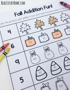 Grab this cute set of early math printable pages for Fall! This set covers…