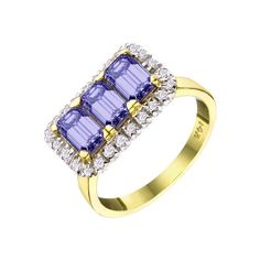Tanzanite and Diamond #Ring