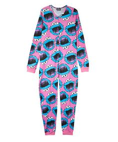 Not for me but it's still fantastic! Pink (Pink) Teens Pink Cookie Monster All-in-One | 260277770 | New Look