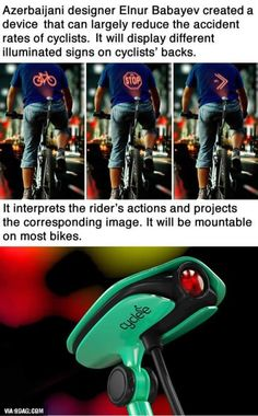 What a wonderful device for cyclists!
