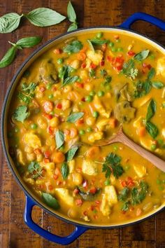 Chicken, Carrot and Chickpea Coconut Curry - The perfect way to get your veggie quota in a super delicious way! This wonderful coconut curry-based dish is loaded with healthy veggies, lean protein and fabulous flavor! thecafesucrefarine.com