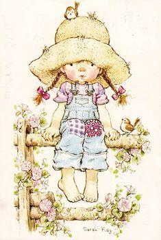 ru / Photo # 42 - Sarah Kay - A-legria Illustration Art Nouveau, Cute Illustration, Holly Hobbie, Sarah Key, Decoupage Tissue Paper, Creative Pictures, Vintage Artwork, Vintage Greeting Cards, Beatrix Potter