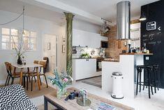 Ideas para iluminar espacios sin ventanas; Un apartamento con muchas ideas a tener en cuenta.