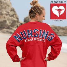 Nursing Spirit Jersey Red 14 - Preppy Print, $64.00