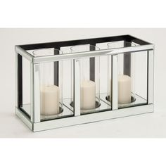 Found it at AllModern - The Grand Wood Mirror Candle Holder