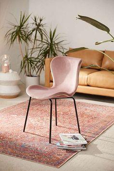 Urban Outfitters Rosa Velvet Dining Chair . . . . . . . . . . .#Boho #bohemian #homedecor