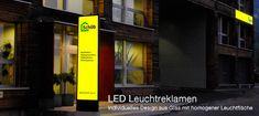LED Werkstatt , Leuchtreklamne LED, LED Pylone, Leuchtkasten St Gallen, Recycling, Shops, Broadway Shows, Led, Fabric Bins, Work Shop Garage, Light Fixtures