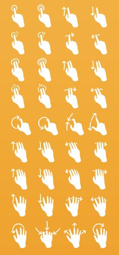 hand gestures, icons