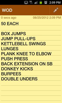 CrossFit WOD ( workout if the day)