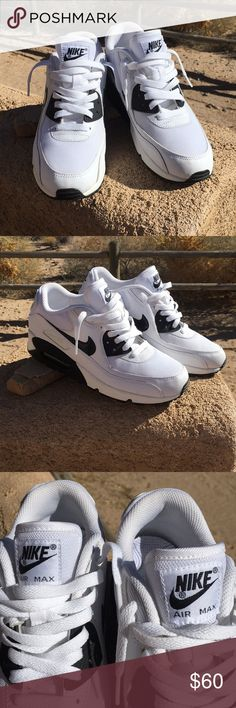 Nike Air Max sneakers. Nike Air Max. White with black trim. Size 9.5. Unworn. Smoke/pet free home. Nike Shoes Athletic Shoes