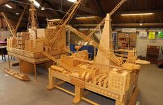 Former oil rig worker spent 15 years making model of oil rig out of four million matchsticks.