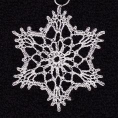 cro snowflake for cards 1109 Crochet Ornament Patterns, Crochet Snowflake Pattern, Crochet Stars, Crochet Ornaments, Christmas Crochet Patterns, Crochet Snowflakes, Snowflake Ornaments, Christmas Snowflakes, Crochet Hooks