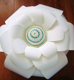 Giant Jewelled Centre Paper Flower (set of 5)  $120.00