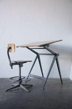 "Willem Rietveld + Friso Kramer ""REPLY"" Drafting Table 1958"