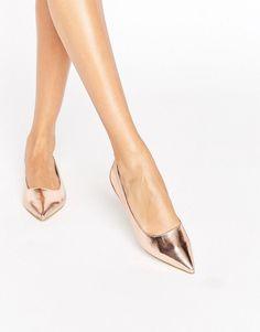 Raid RAID Agatha Rose Gold Point Flat Shoes