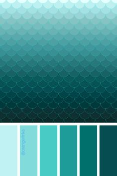 Mini-Omelett-Muffins - New Ideas - New Ideas Color Verde Aqua, Aqua Color Palette, Colour Schemes, Turquoise Color Schemes, Color Stories, Teal Green, Color Theory, Pantone Color, Color Inspiration