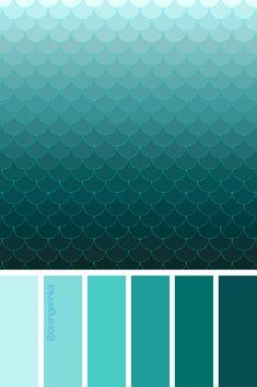 Mini-Omelett-Muffins - New Ideas - New Ideas Color Verde Aqua, Aqua Color Palette, Colour Schemes, Turquoise Color Schemes, Color Stories, Teal Green, Color Theory, Pantone Color, Color Inspiration