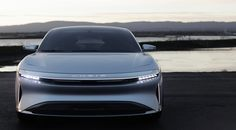 LUCID AIR - Showcar 2017 - Slim Headlights - Low Beam On ...It was hard work but also a great team!    © www.lucidmotors.com  #lucidmotors #exteriorlights #lucidair #innovation #exteriordesign #carlamps #showcar #conceptcar #maxklimke