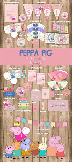 Candy Bar Peppa pig kit imprimible. Printable.
