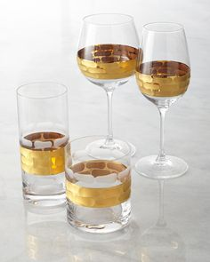 Michael Wainwright Truro Gold Glassware - Available at Silverscape Designs