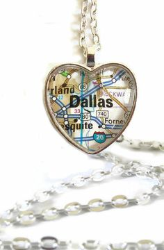 Custom Map Necklace <3 {great idea for where you were born or got married}