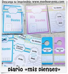 portada imprimible Just Kidding, Dentistry, Pharmacy, Baby Shower Decorations, Free Printables, Activities For Kids, Teeth, Diy And Crafts, Bullet Journal