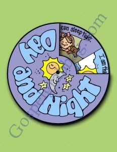 CREATION – DAY & NIGHT: Sunbeam Lesson 8, I Am Thankful for the Day and the Night, Sunday Savers book or CD-ROM, gospelgrabbag.com, Primary ...