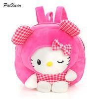 3D toy kindergarten backpacks cute cartoon children s school bag kids hello  kitty backpack minion shoulder Bags 4f1ae98037c65
