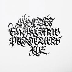 Fraktur Capitals study. #fraktur #calligraphy #gothic #blackletter #calligraphica #typeverything