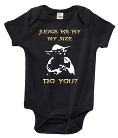 Star Wars Judge Me By My Size Do You One-piece Baby Bodysuit