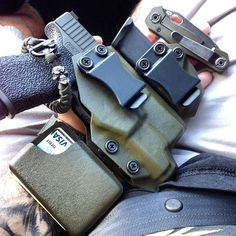 OD Green EDC Holster featuring a Glock handgun