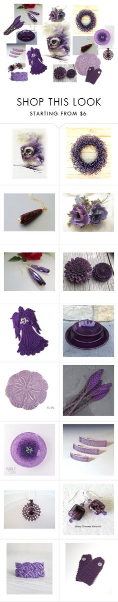 """""""Lovely Purples!"""" by keepsakedesignbycmm ❤ liked on Polyvore featuring Sola"""